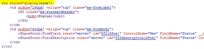 How to Hide Columns from SharePoint Forms | proMX