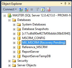 "Microsoft SQL Server: Database Repair following ""Recovery Pending"