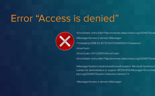 "Dynamics CRM 2016 OnPremises: Error ""Access is denied"" when importing (asynchronous) solutions"
