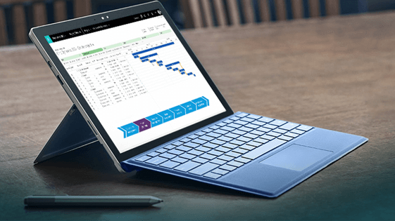 Microsoft Dynamics for PSA on the Microsoft Surface