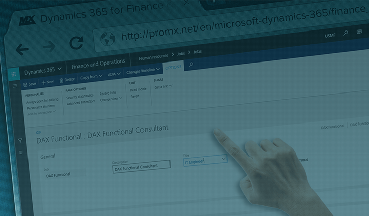 Microsoft Dynamics 365 for Finance and Operations | proMX