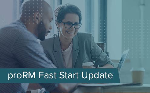 Update von proRM Fast Start: Unified Interface und Fehlerbehebung