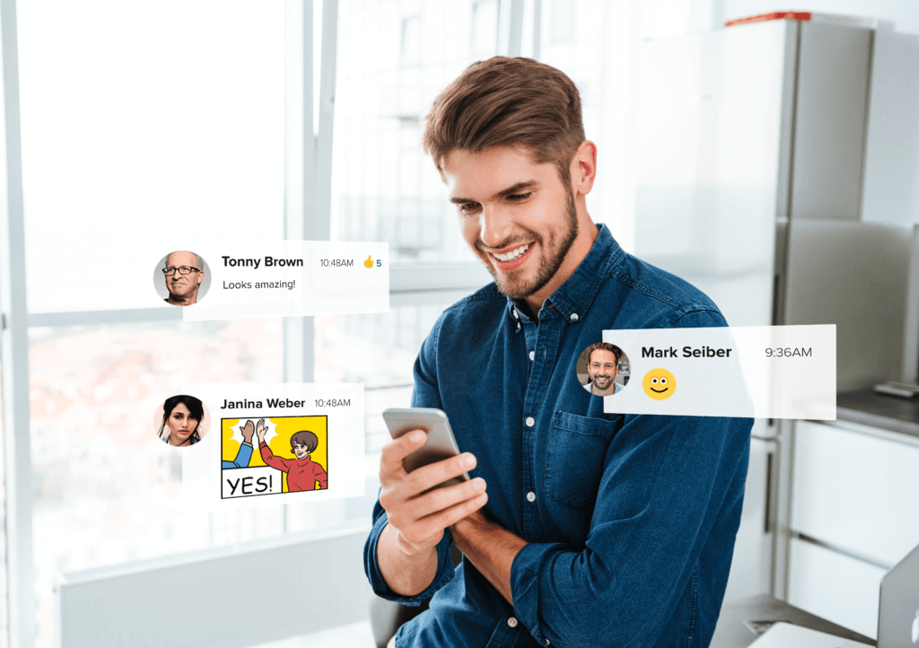 Microsoft Teams offers different chat features including mentions, likes, emojis and memes