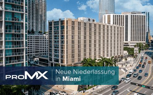 proMX expandiert: Neue Niederlassung in Miami gegründet