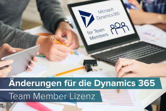Dynamics 365 Team Member Lizenz: Information zu wichtigen Änderungen