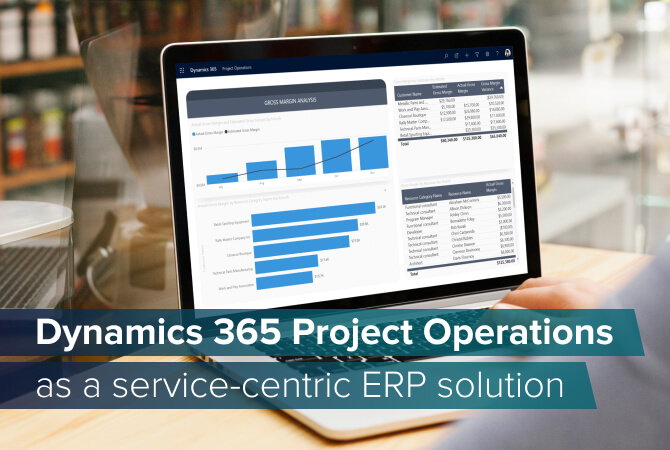 Dynamics 365 Project Operations extended into an ERP system
