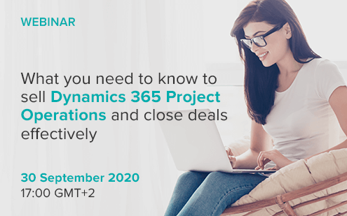 Webinar: What you need to know to sell Dynamics 365 Project Operations and close deals effectively