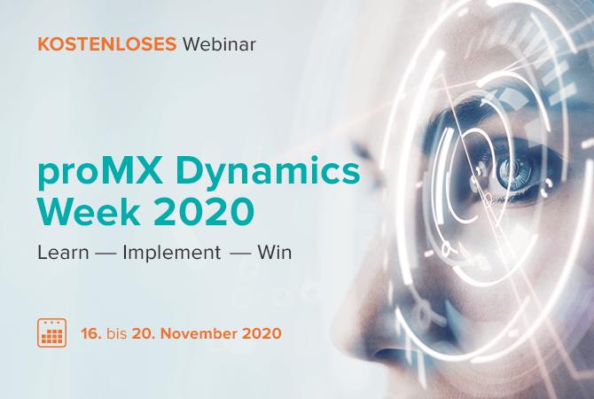 Ankündigung der proMX Dynamics Week 2020