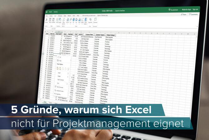 Warum sich Excel nicht für Projektmanagement eignet