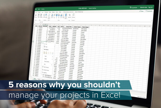 Why project management in Microsoft Excel is not advisable
