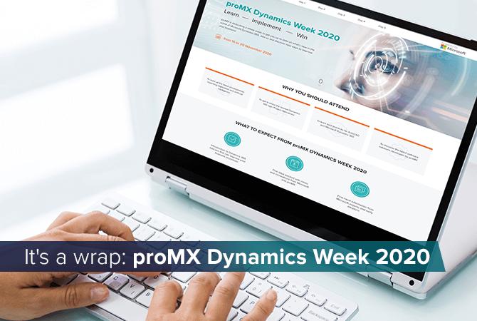 It's a wrap: proMX Dynamics Week 2020