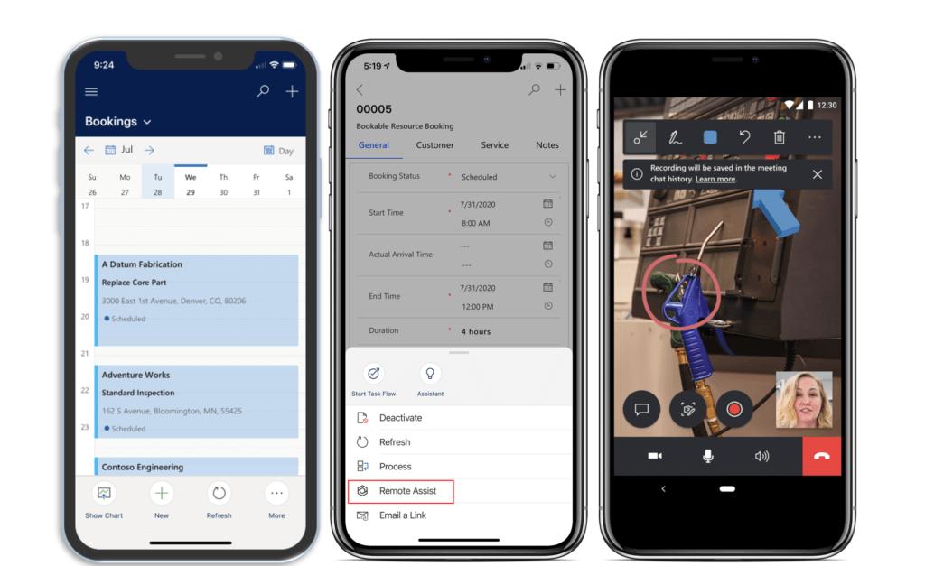 Screenshots Field Service Mobile App_remote-assist-booking-deeplink