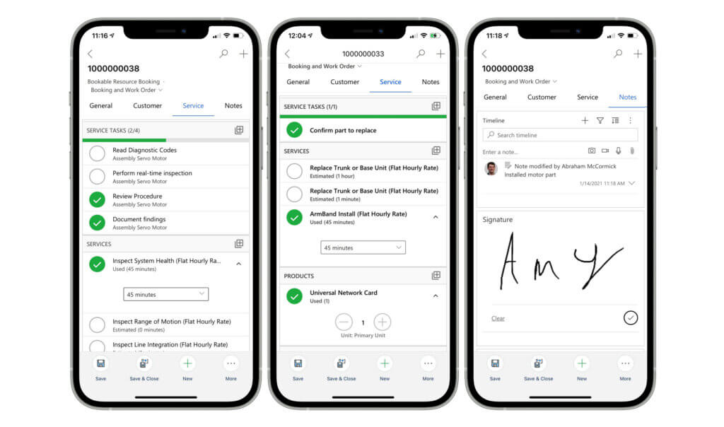 Screenshots Field Service Mobile App_mobile-2020-work-order-service-notes-new