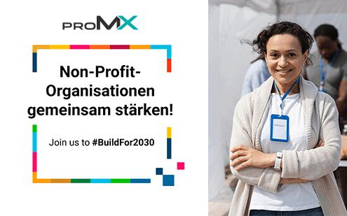 proMX ist Teil der Kampagne #BuildFor2030